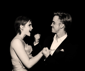 tom felton, emma watson, and harry potter image