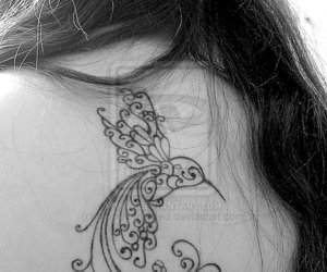 bird, tattoo, and humming image
