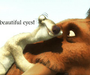 ice age, eyes, and funny image