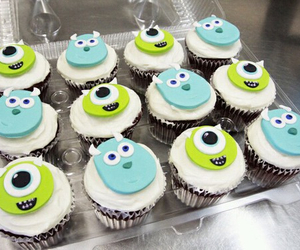 cool, cupcakes, and monster image