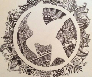 drawing, symbol, and the hunger games image