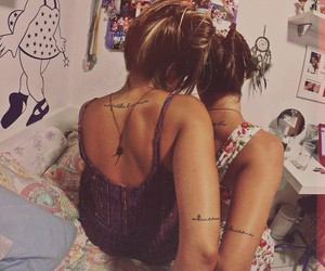 best friends, sisters, and tattoo image