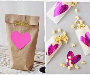 diy, heart, and popcorn image