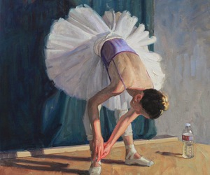 ballet, girl, and painting image