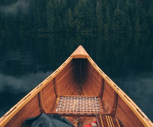 lake, boat, and nature image