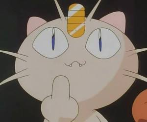 fuck off, meow, and pokemon image