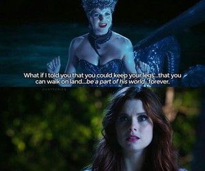 ariel, once upon a time, and ursula image