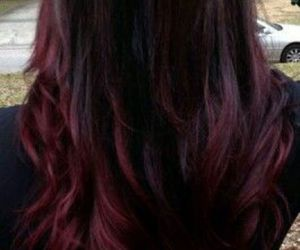 burgundy, hair, and ombre image