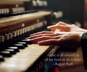 august rush, listen, and music image