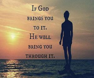 god, he will, and through it image