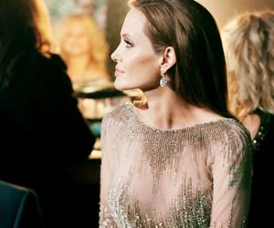 Angelina Jolie, dress, and beauty image