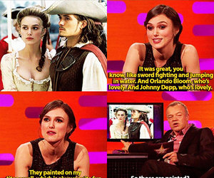 funny, keira knightley, and pirates image