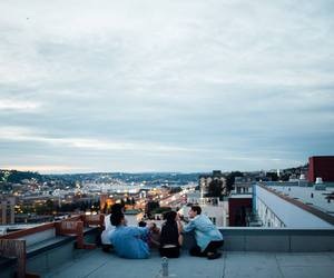 friends, city, and sky image