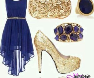 blue, dress, and perfect image