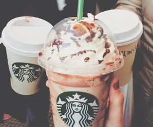 coffe, food, and frappuccino image