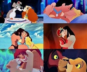 disney, kiss, and pocahontas image