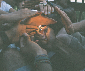 friends, fire, and hands image