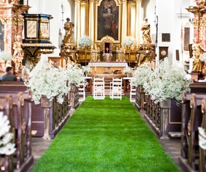 bridal, church, and flower image