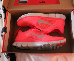 nike, neon, and pink image
