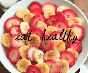 healthy, food, and banana image