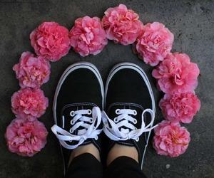 vans, flowers, and indie image
