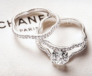 chanel, ring, and diamond image