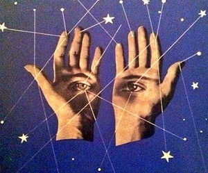 hands, stars, and eyes image