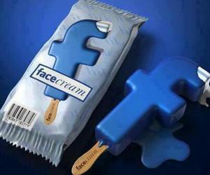 facebook, ice cream, and blue image