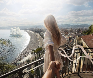 couple, travel, and summer image