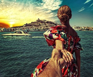 travel, ibiza, and follow me to image
