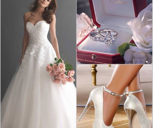 wedding, ring, and white image