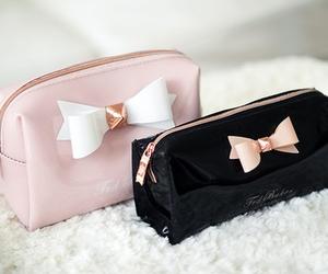 pink, bag, and black image