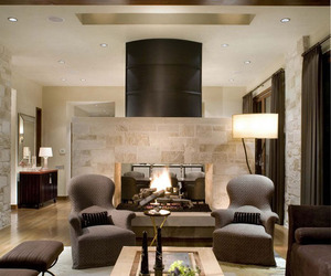 cozy, fireplace, and design image