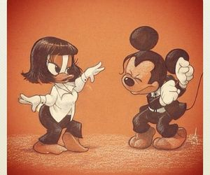 pulp fiction, disney, and mickey image