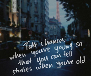quote, chance, and life image