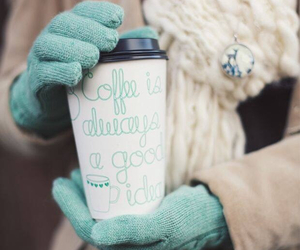 coffee, winter, and gloves image
