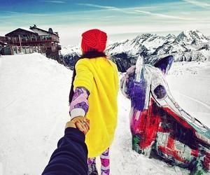 snow, murad osmann, and couple image