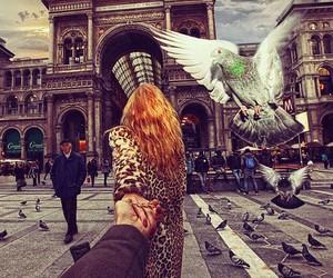 milan, follow me, and couple image