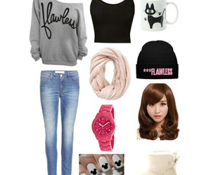 outfit, Polyvore, and tips image