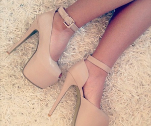 beige, heels, and shoes image
