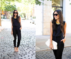 black, outfit, and sunglasses image
