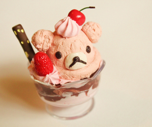 ice cream, food, and bear image
