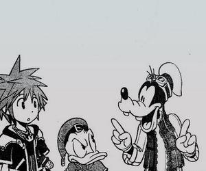 donald, goofy, and kingdom hearts image