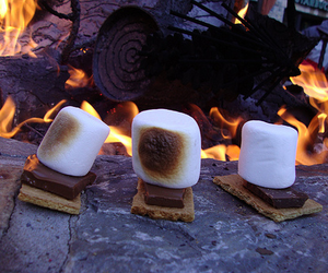 food, fire, and chocolate image