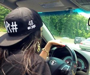 girl, car, and swag image