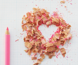 heart, pencil, and pink image