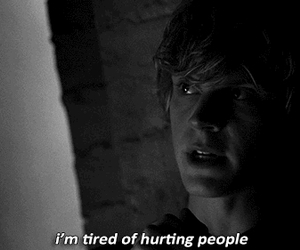 people, tired, and american horror story image