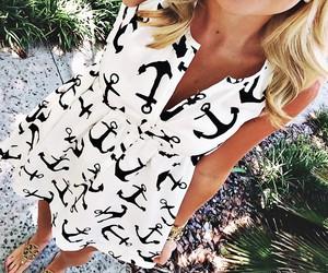 anchor, dress, and fashion image
