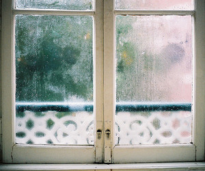 window, rain, and vintage image