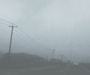 city, fog, and road image